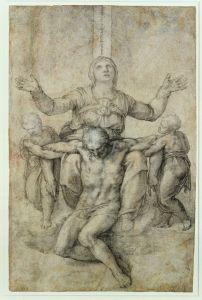 Pietà para Vittoria Colonna. Miguel Ángel.  1546