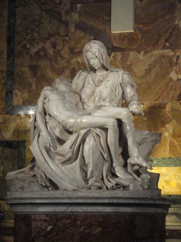Pietà de Miguel Àngel.San Pedro. Roma. Foto R.Puig
