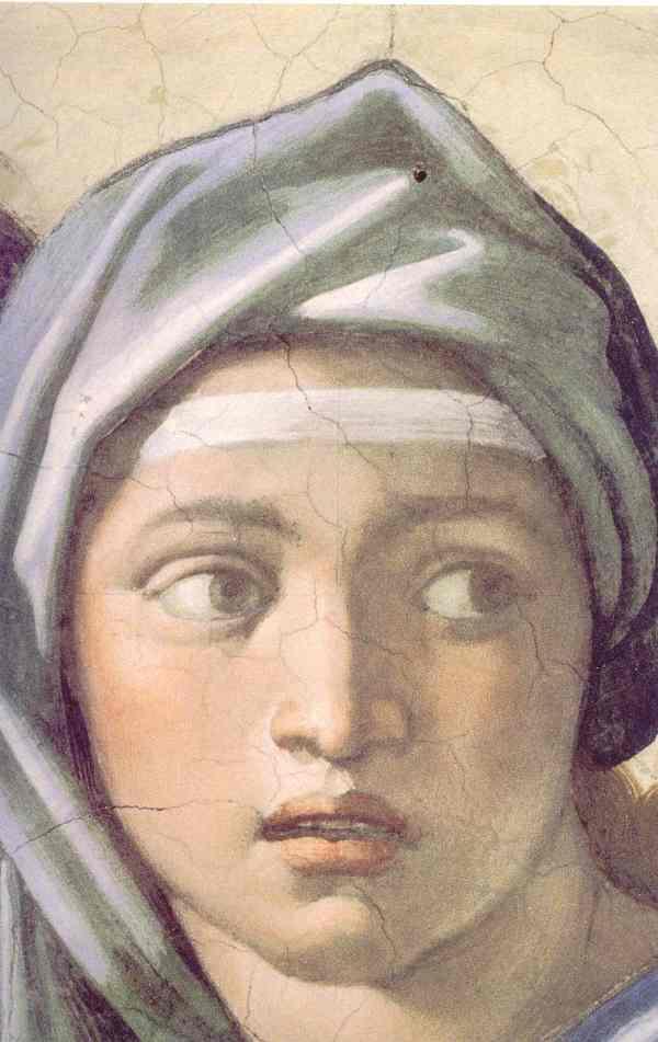 Sibila de Delfos Capilla Sixtina.
