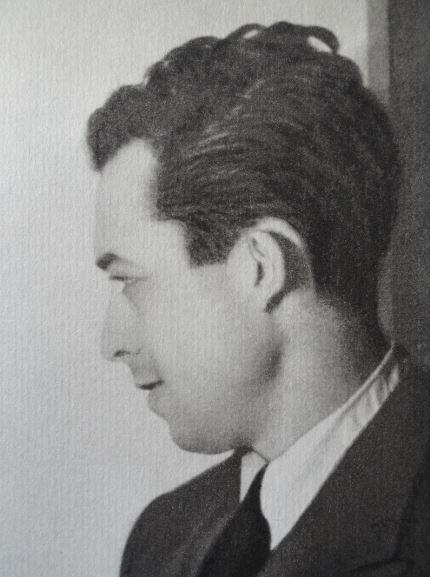 Albert Camus en 1939 durante el ensayo de Calígula. Foto B.Rouget en el períodico Alger Republicain