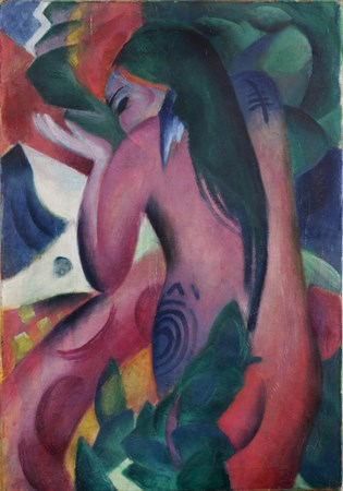 Franz Marc. Red woman. 1912. Museo de Leicester.
