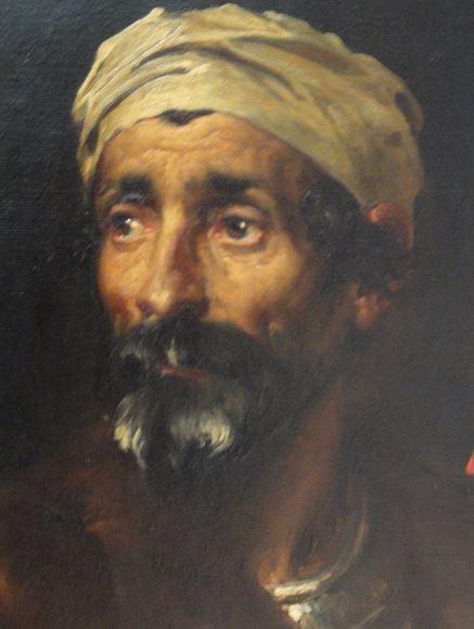 Frederick Leighton. Cabeza de árabe. 1857.Museo de Leicester. Foto R.Puig