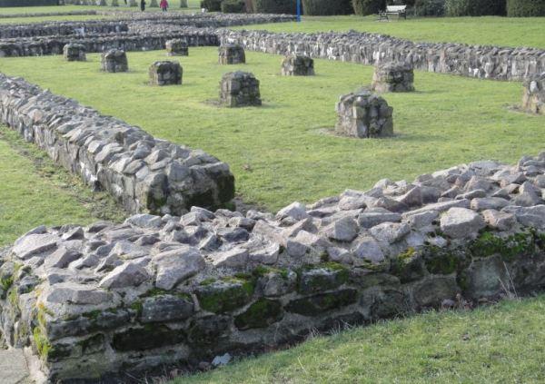 Ruinas del refectorio de la abadía de Santa María, s.XII, en Leicester.  Foto R.Puig