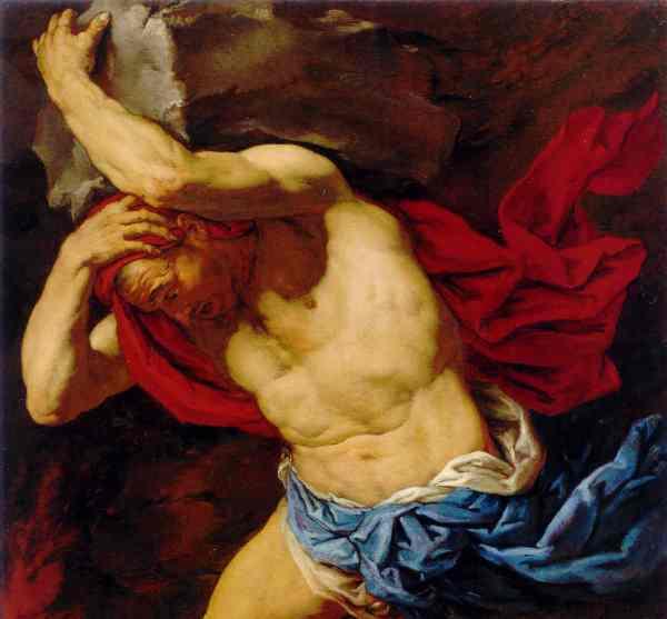 Sisifo. Antonio Zanchi.  1660 a 65. Mauritshuis. La Haya