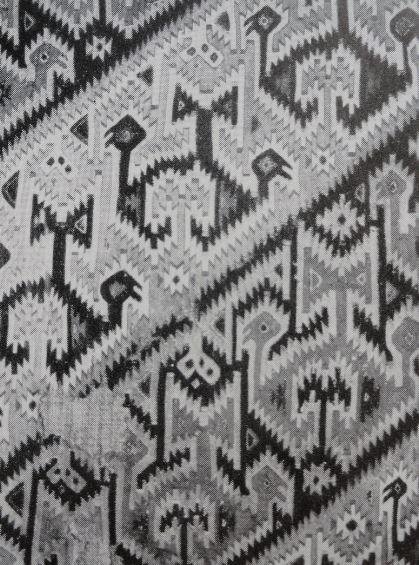 Tejido Mochica. Detalle. Catálogo Exposicion de Gotemburgo en 1950