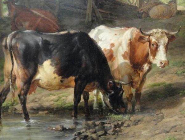 Thomas Sidney Cooper. Ganado en el paisaje. Detalle. 1836. Museo de Leicester. Foto R.Puig