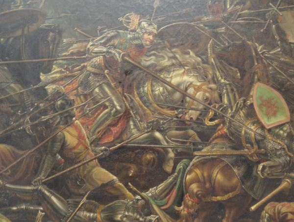William Bass. La batalla de Bosworth. 1839. Museo de Leicester. Foto R.Puig