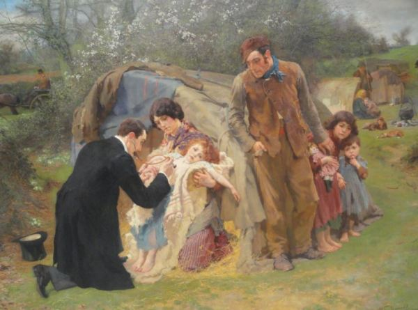 William Small. El buen samaritano 1899. Museo de Leicester