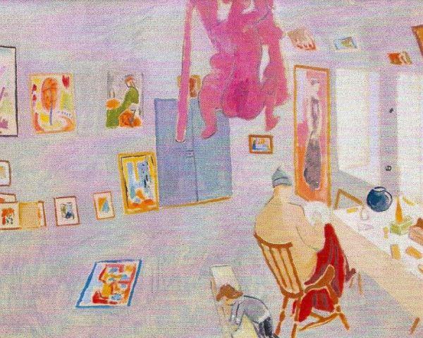 En el atelier. Isaac Grünewald. 1916. Óleo sobre lienzo