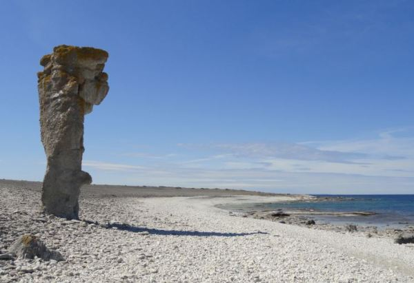 Isla de Fårö en Gotland. Rauken.  Foto R.Puig