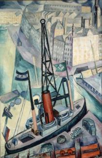 La grúa. Isaac Grünewald.1915