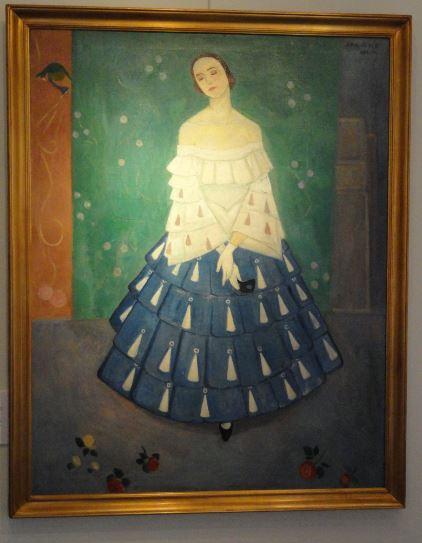 La primera bailarina Jenny Hasselqvist. Einar Jolin. 1916. Óleo sobre lienzo. Galería Fahlnaes. Foto R.Puig