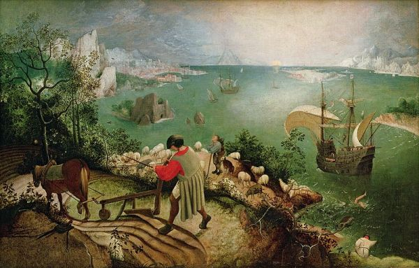 Pieter Bruegel. La caída de Ícaro. Bruselas.