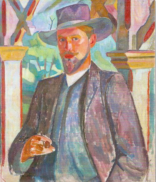 Retrato de Knut Jansson. Birger Simonsson. 1909. Óleo sobre lienzo
