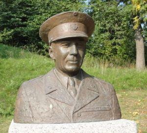 Busto de Folke Bernadotte en Estocolmo. Foto R.Puig