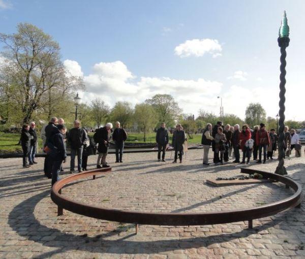 En el memorial de las víctimas de los campos de exterminio nazis. Gotemburgo. Foto R.Puig