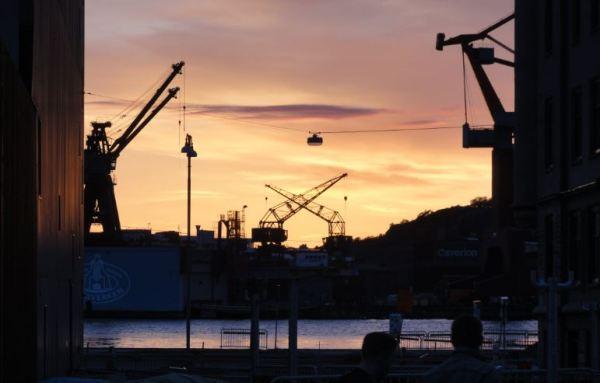 La línea del cielo. Atardece en Gotemburgo. Foto R.Puig