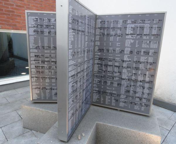 Memorial de familiares asesinados de los judíos que llegaron a Gotemburgo en 1945. Foto R.Puig