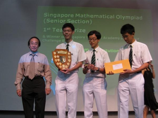 Olimpiadas matemáticas. Singapur. Fuente Raffles Institution