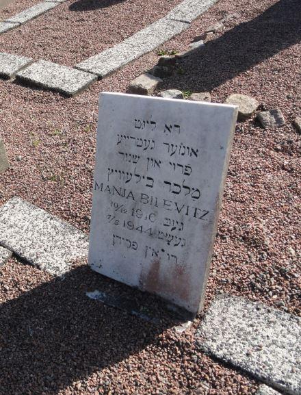 Sepultura de Manja Bilevitz 1916 a 1944. Cementerio del Este. Gotemburgo. Foto R.Puig