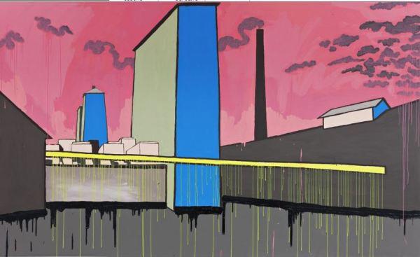 Johan Zetterquist. Study for a monument. Acrilico y oleo. 320 x 200 cm. Galería Andréhn-Schiptjenko 2011