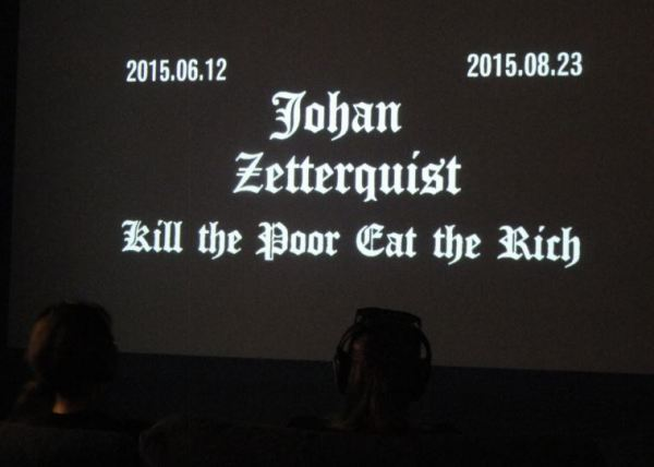 Kill the Poor Eat the Rich. Exposición de Johan Zetterquist. Foto R.Puig