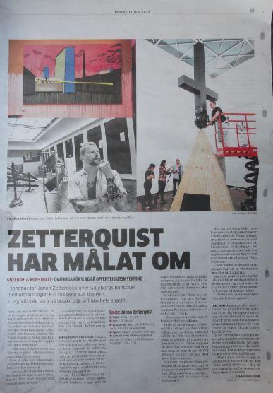 Página del diario local de Gotemburgo sobre la exposición Zetterquist. Foto R.Puig