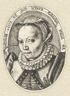 Margaretha Jansdochter. Hendrick Golzius. Grabado 1580.