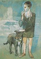 Picasso. El niño con su perro