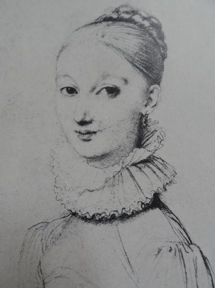 Retrato de joven. Grafito. Detalle. Dominique Ingres. 1815. Hermitage.