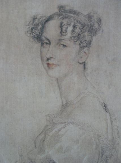 Retrato de la princesa Daria Lieven. Lápiz, sanguina y creta sobre tela preparada. Thomas Lawrence. Entre 1812 y 1823. Hermitage.