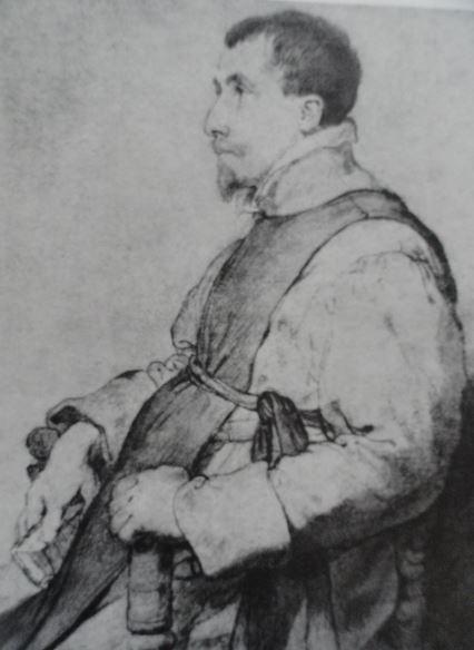 Retrato de un clérigo español ca. 1628. Gouache y tiza negra. Rubens. Hermitage.
