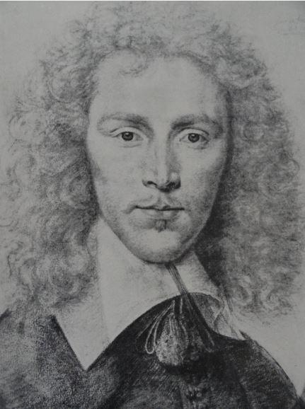 Retrato de un hombre rubio. Tiza negra lápiz y pastel. Daniel Dumoustier.   ss XVI  y XVII. Hermitage.