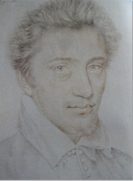 Retrato de un joven.Tiza negra y roja.  Maestro IDC. s.XVI. Hermitage