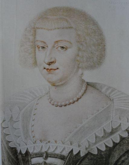 Retrato de una dama vestida en negro. Piedra negra y lapices de color con toques de pastel. 1631. Daniel Dumonstier. Hermitage.