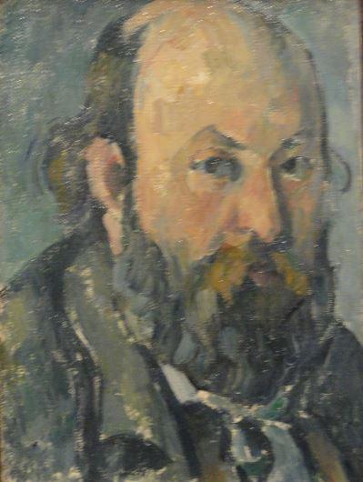 Autorretrato. Cezanne. 1877 a 78. Oleo sobre lienzo. Detalle. Kunsthalle. Hamburgo. Foto R.Puig