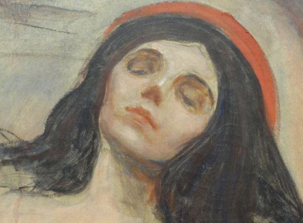 Madonna. Edvard Munch. 1893 a 95. Oleo sobre lienzo. Detalle. Kunsthalle. Hamburgo. Foto R.Puig