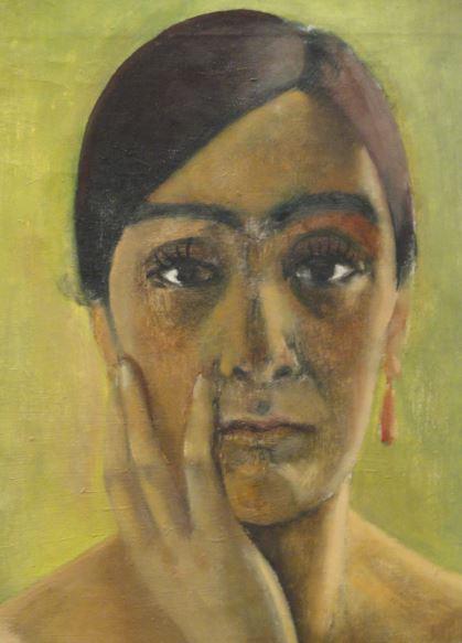 Autorretrato. Anita Reé. 1930. Detalle. Kunsthalle. Hamburgo. Foto R.Puig
