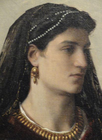 Bianca Capello por Anselm Feuerbach. 1864 a 1868. Oleo sobre lienzo. Detalle. Kunsthalle. Hamburgo. Foto R.Puig
