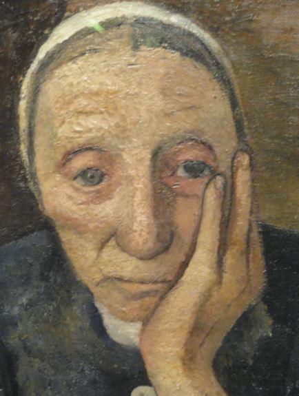 Campesina anciana. Paula Modershon Becker. 1903.Oleo y tempera. sobre lienzo. Detalle. Kunsthalle. Hamburgo. Foto R.Puig