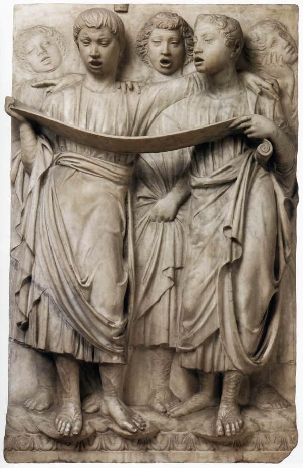 Detalle de la Cantoria del Duomo de Florencia. Luca Della Robbia