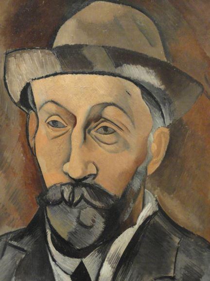 El marchante Clovis Sagot. Picasso. 1903. Oleo sobre lienzo. Detalle. Kunsthalle. Hamburgo. Foto R.Puig