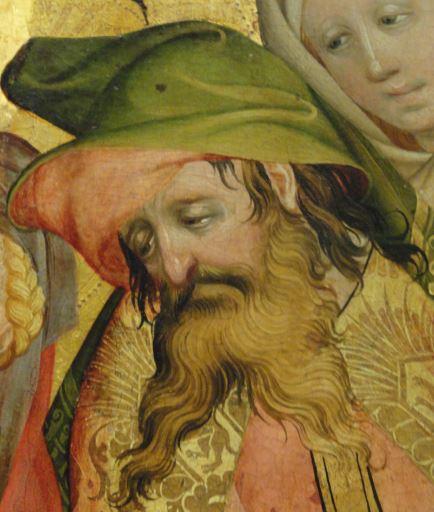 Entierro de Cristo. Detalle. Oleo sobre tabla. Meister Francke. 1424. Foto R.Puig