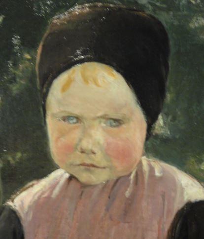 Eva. Max Liebermann. 1883. Oleo sobre lienzo. Detalle. Kunsthalle. Hamburgo. Foto R.Puig