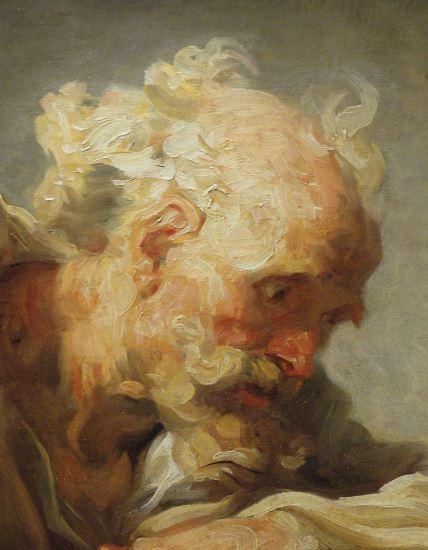 Filosofo. Fragonard. 1764. Oleo sobre lienzo. Detalle. Kunsthalle. Hamburgo. Foto R.Puig