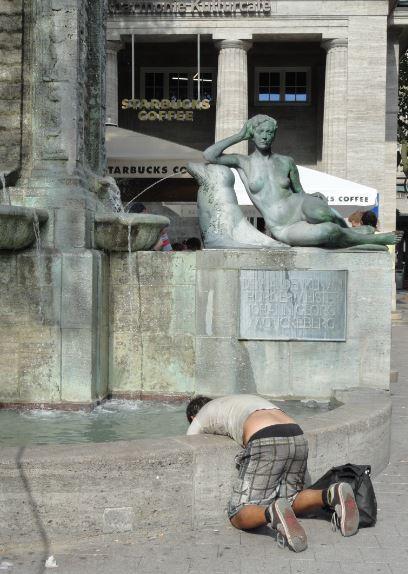 Hamburgo. Aliviando el calor. Foto R.Puig