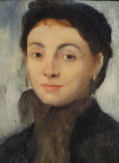 Josephine Gaujelin por Degas. 1867. Oleo sobre lienzo. Detalle. Kunsthalle. Hamburgo. Foto R.Puig