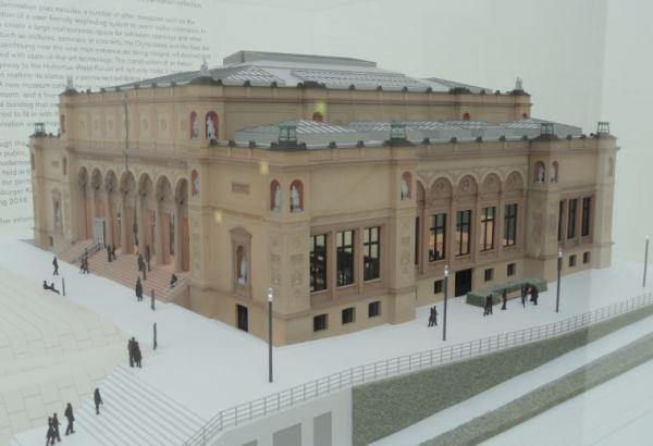 Kuntshalle Hamburgo. Maqueta del proyecto de renovación. Foto R.Puig