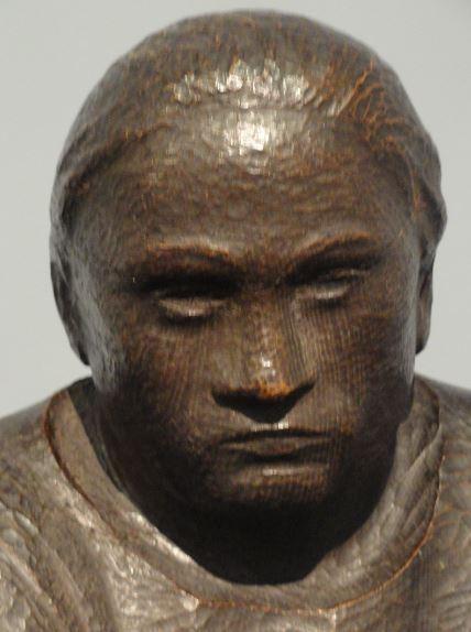 La pensadora. Ernst Barlach. Roble. 1910. Detalle. Foto R.Puig