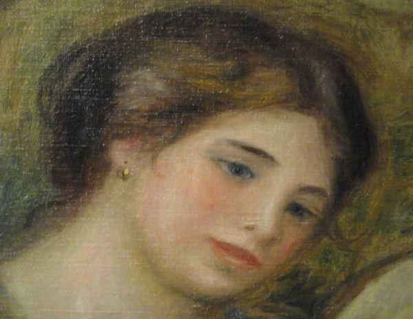 La tamborilera. Renoir 1909. Oleo sobre lienzo. Detalle. Kunsthalle. Hamburgo. Foto R.Puig